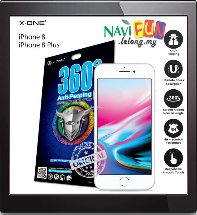 ★ X-One Anti-Peeping Privacy Screen Protector iPhone 8 / 8 Plus