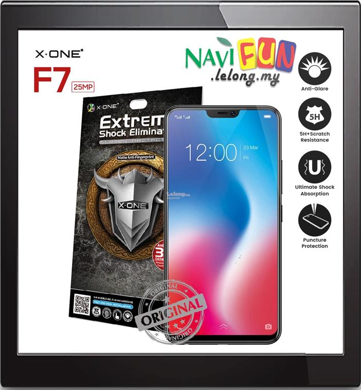 ★ X-One Extreme Matte Anti-Fingerprint Screen Protector Oppo F7