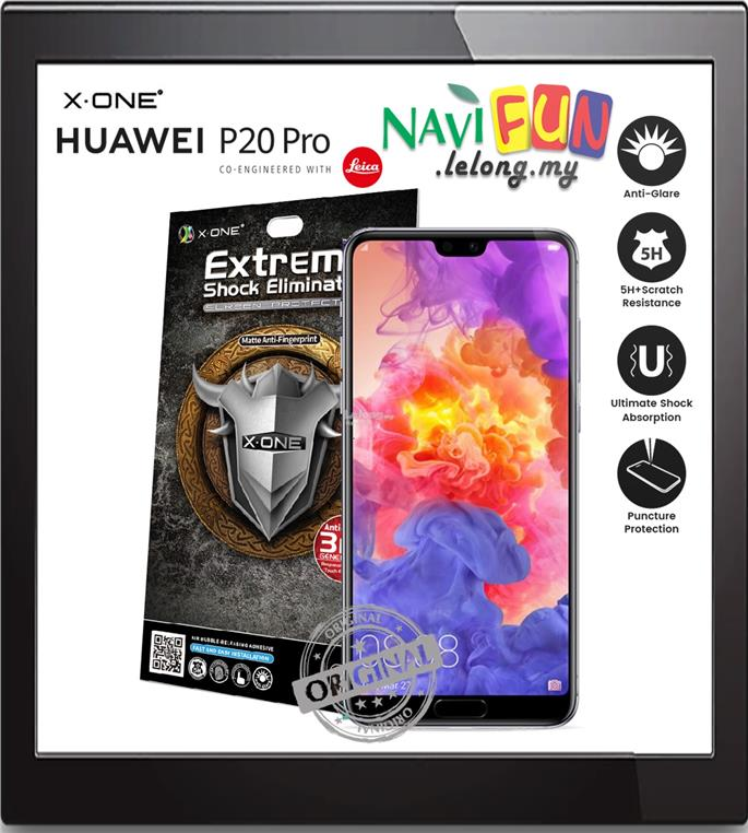 ★ X-One Extreme Matte Anti-Fingerprint Screen Protector P20, Pro