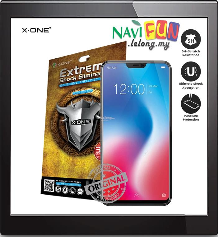 ★ X-One® Extreme Shock Eliminator Screen Protector Vivo V9