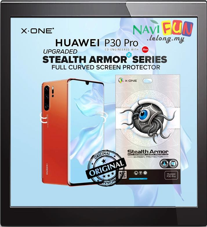 ★ X-One Stealth Armor 2 Screen Protector Huawei P30 Pro