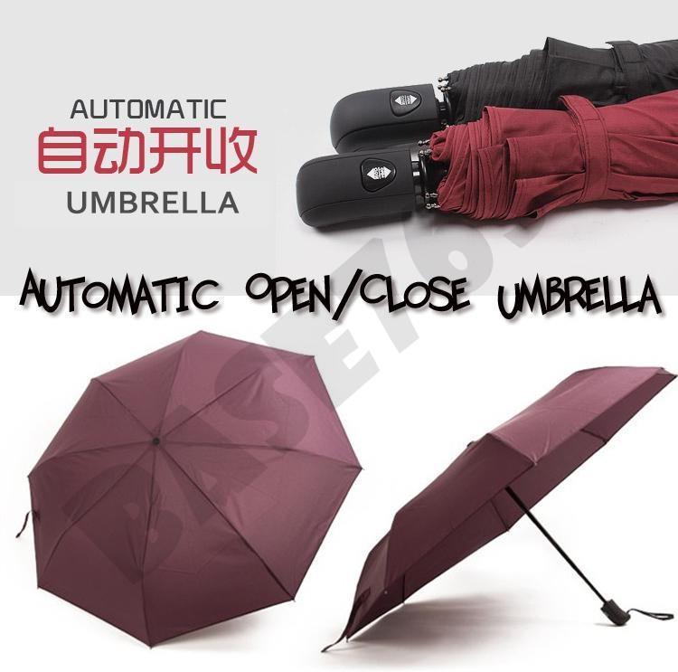 Umbrella Stand Lelong: 98cm One Click Automatic Open / Clos (end 4/14/2020 2:12 PM