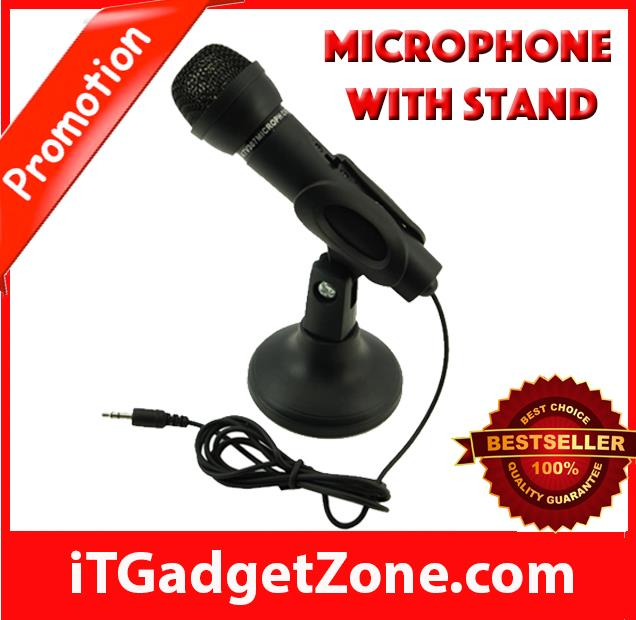 ✈️ 3.5mm Mini Studio Speech Microphone with Stand ( Color