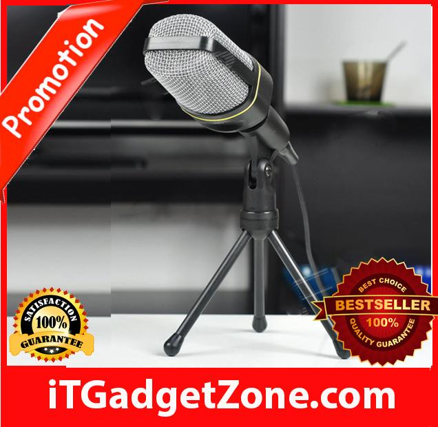 ✈️Desktop Microphone with Tripod for Laptop/PC (3.5mm Jac
