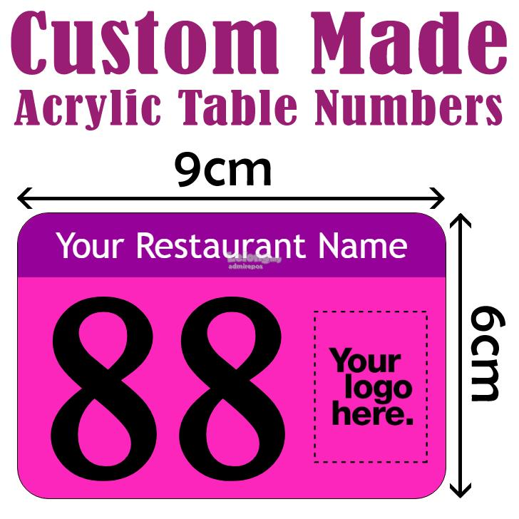 Cm X Cm Custom Made Acrylic Table End AM - Custom restaurant table numbers