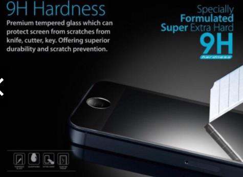 9H Smartphone Tempered Glass for iPhone Samsung