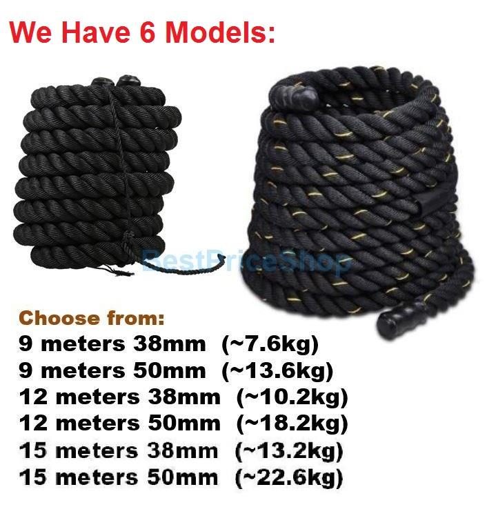 9m 38mm 50mm MMA Rope Battling Training Muscle Ropes Martial Art Gym