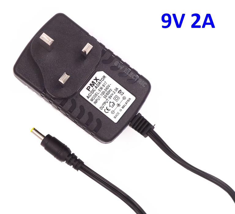 9V 2A AC to DC SWITCHING POWER SUPPLY ADAPTER ADAPTOR. ‹ ›