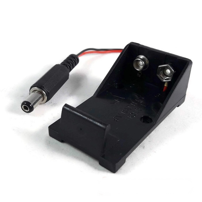 9V Battery Holder With Power Jack