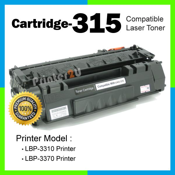 A1 Cartridge 315/Cartridge315/CRG315 Compatible Canon LBP 3310 3370