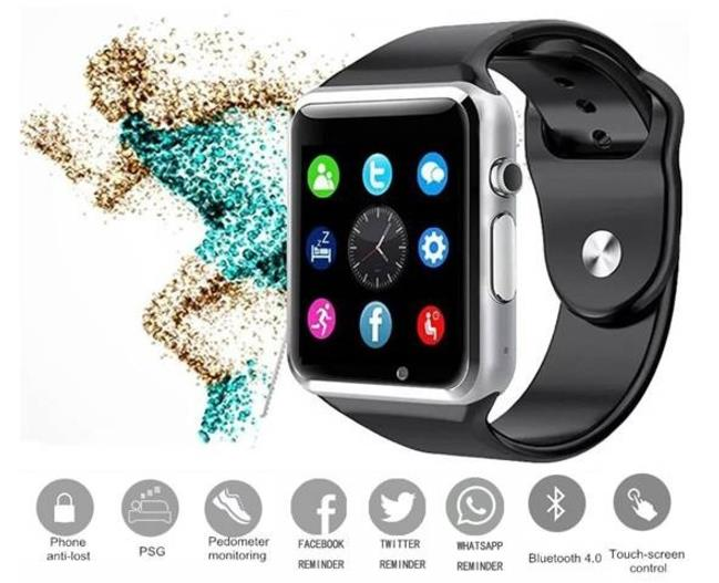 A1 Smart Watch Apple Android Bluetooth Smartwatch SIM CALL SMS CAMERA
