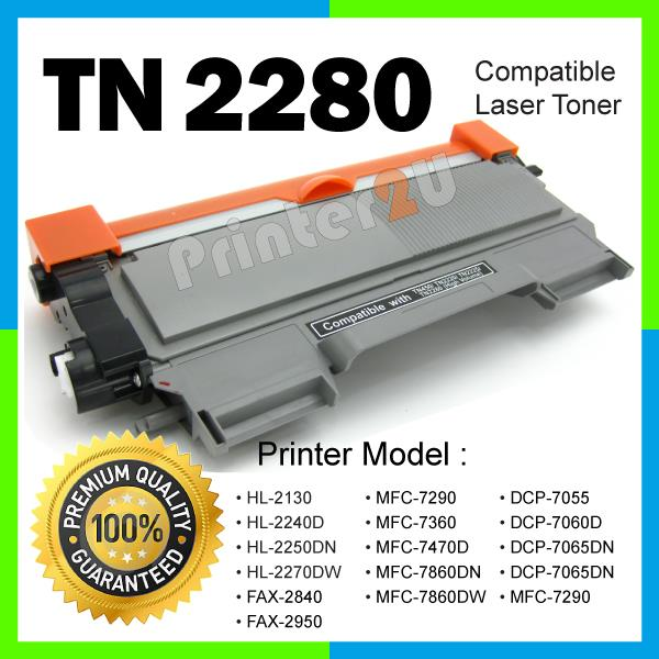 A1 TN2280 Compatible Brother HL2130 HL2240D HL2250DN HL2270DW MFC7360