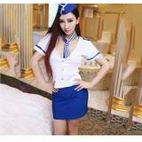 A212 SEXY STEWARDESS UNIFORM COSPLAY-1unit