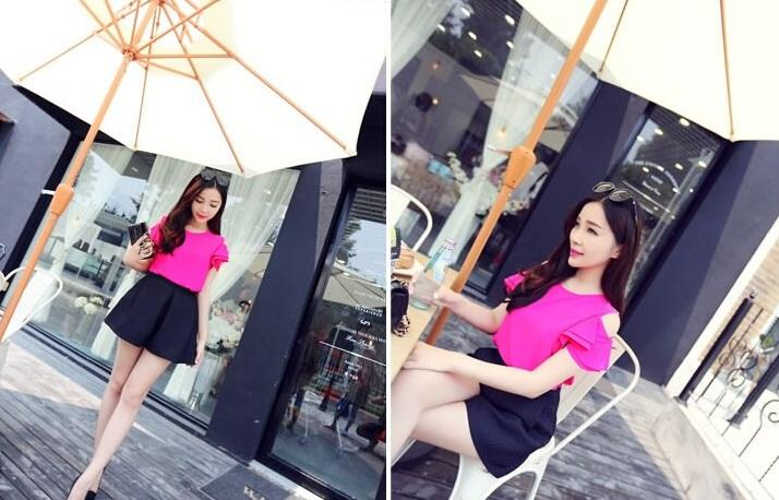 A2732 Fashion Summer European Off Shoulder Shirt
