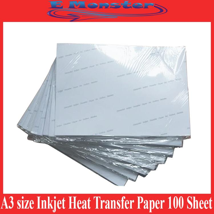 A3 Inkjet Heat Transfer Paper Shirt Heat Press Print 100 Sheet Premium