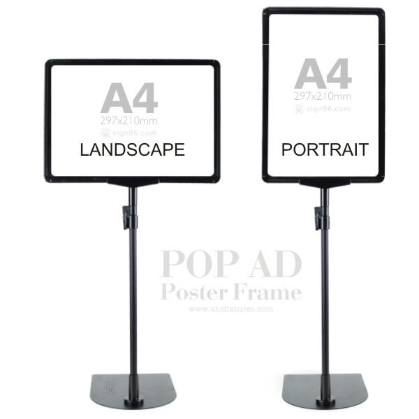 A4 POP Advertising Poster Frame Adjustable Display Stand