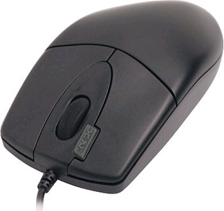 A4TECH 2X CLICK PS2 WIRED OPTICAL MOUSE (OP-620D) BLK