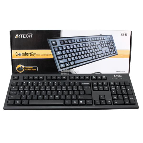 A4TECH (KR-85) Comfort Round Wired Keyboard