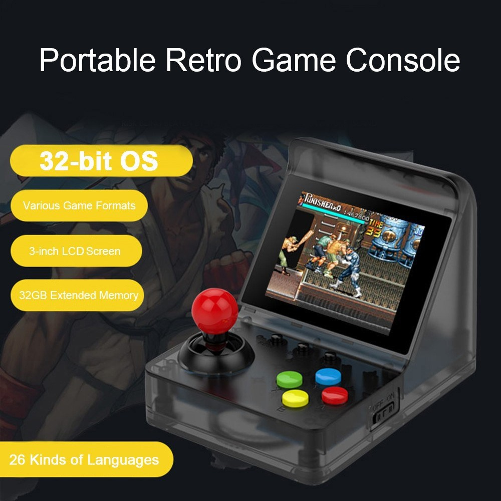A7 Retro Portable Classic Game Console Built-in 520 Games for Kids Adu