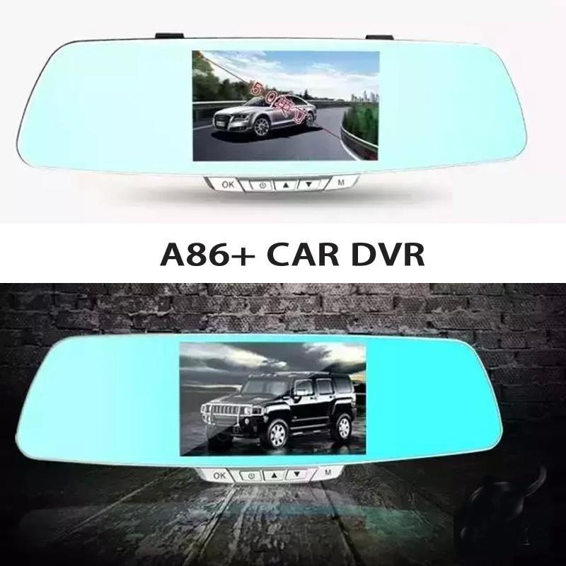 "A86+ 5"" LCD Display Car DVR (front and rear) and reverse camera"