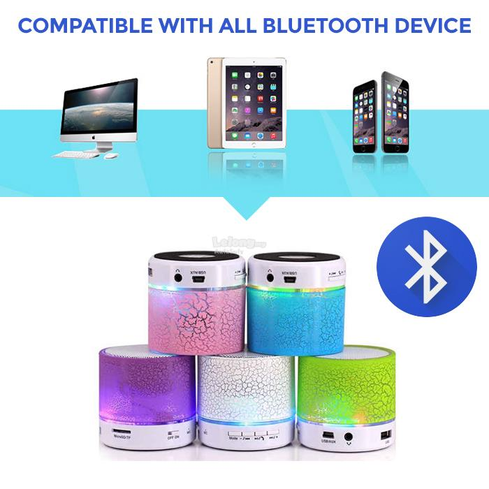 A9 Bluetooth mini Speaker Subwoofer Crack Colorful Card Mobile Phone