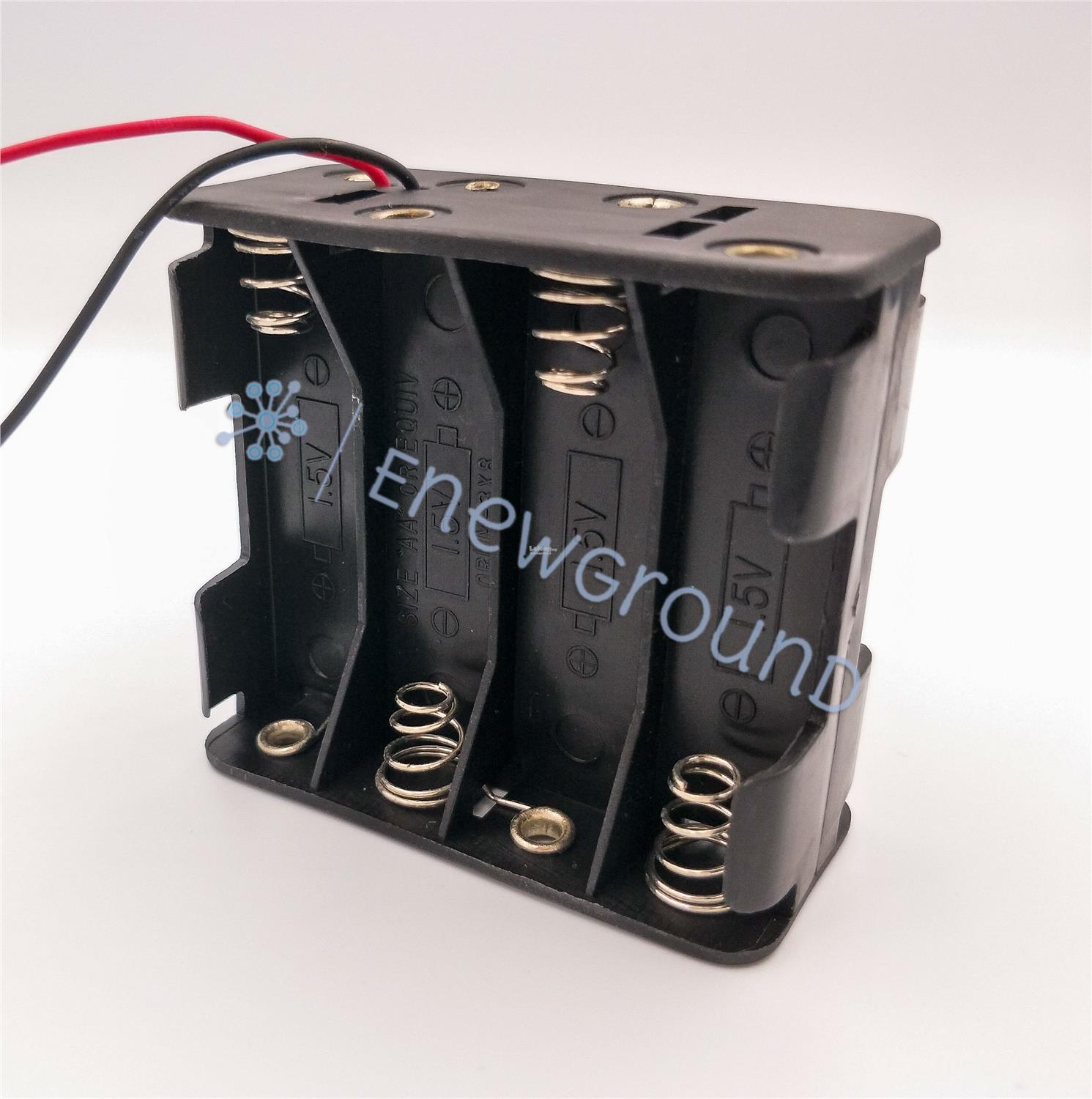 AA size battery holder with coil spring contact (8 cell, double side)