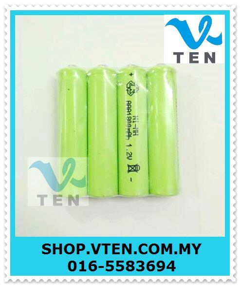 AAA Battery 1800mAh Rechargeable Battery For Solar LED Light Toy 4PCS