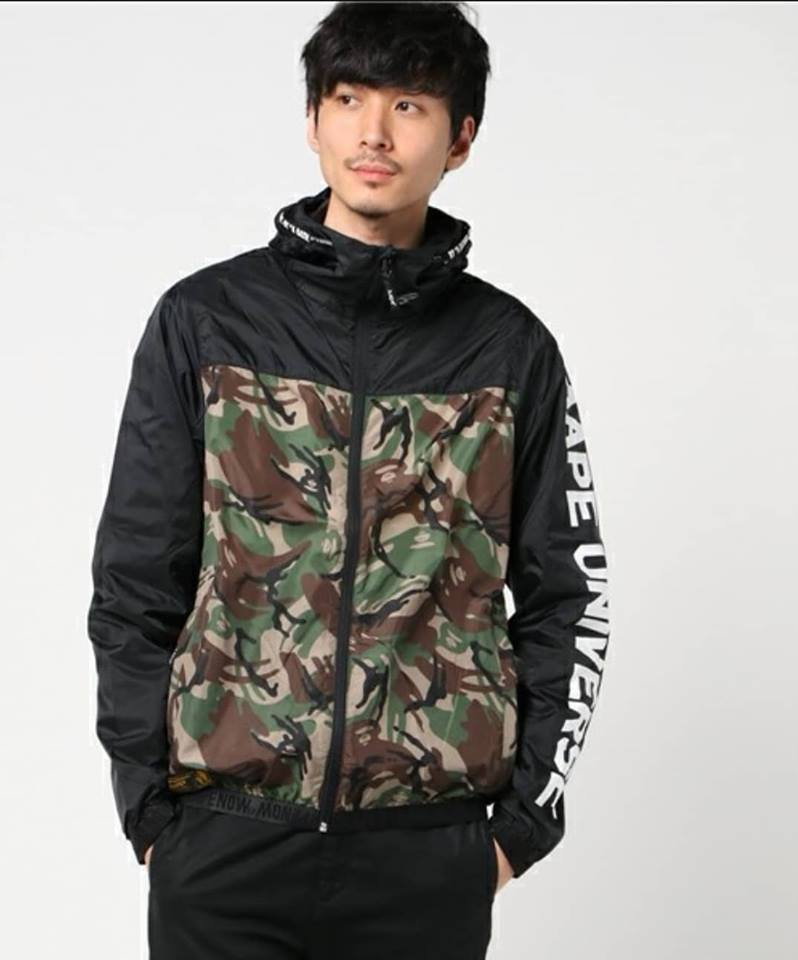 04e2d51e621 AAPE By A Bathing Ape Lightweight Camo Jacket With Sleeve Print. ‹ ›