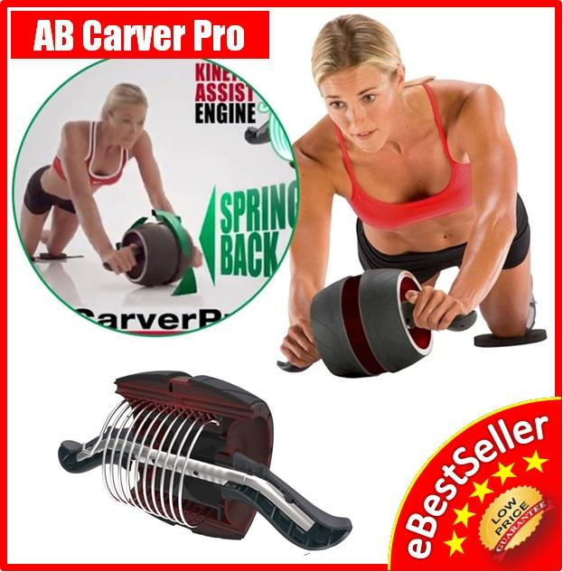 AB Carver Pro Abdominal 6 Six Packs Core Workout Exercise Roller Wheel