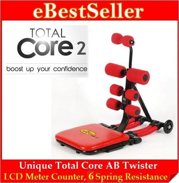 Ab Total Core 2 Rocket Twister Fitness Machine Six Pack Workout Spring