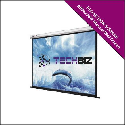 AB96x96W Projection Screens Manual Wall Screen (Pull-Down)