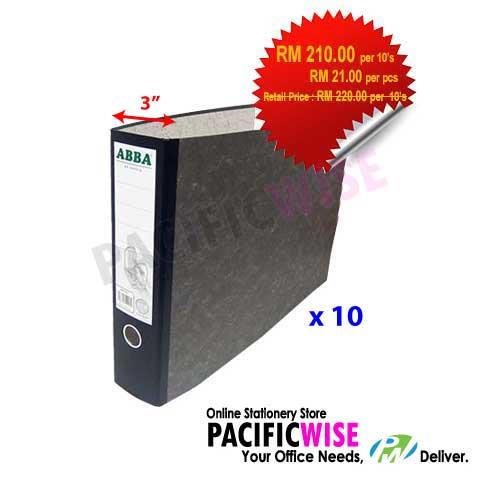 "ABBA 409 A3 Oblong 3"" Arch File (10's)"