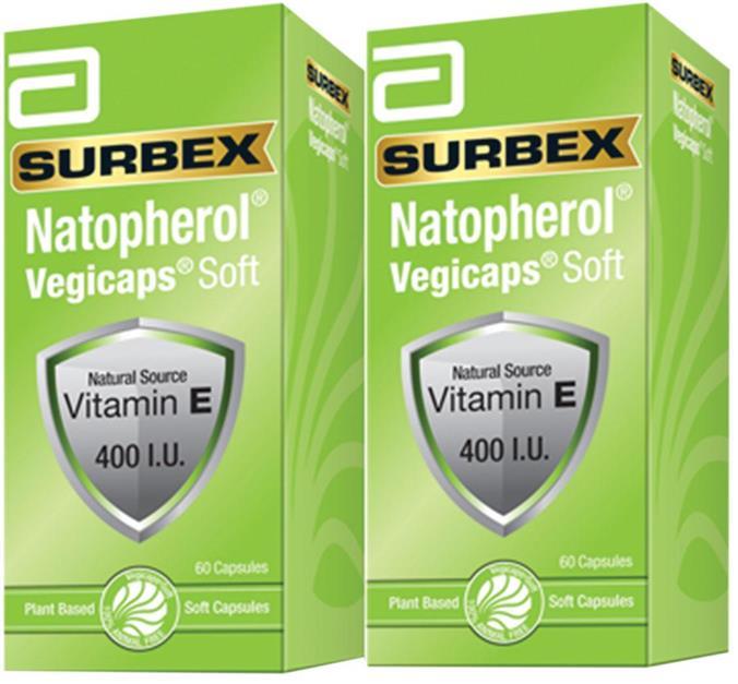 Abbott Surbex Natopherol Vit E 400 I.U. (2x60's) (For Skin)
