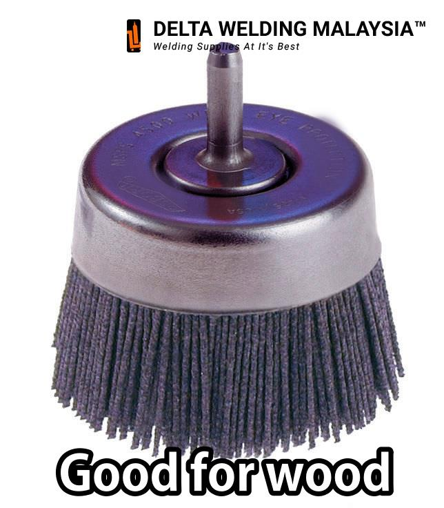 Abrasive Nylon wire Circular Brush (75mm) For wood polishing