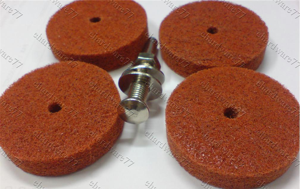 Abrasive Non-Woven Polishing Wheel & Shank Set #80 (WNPS31C)