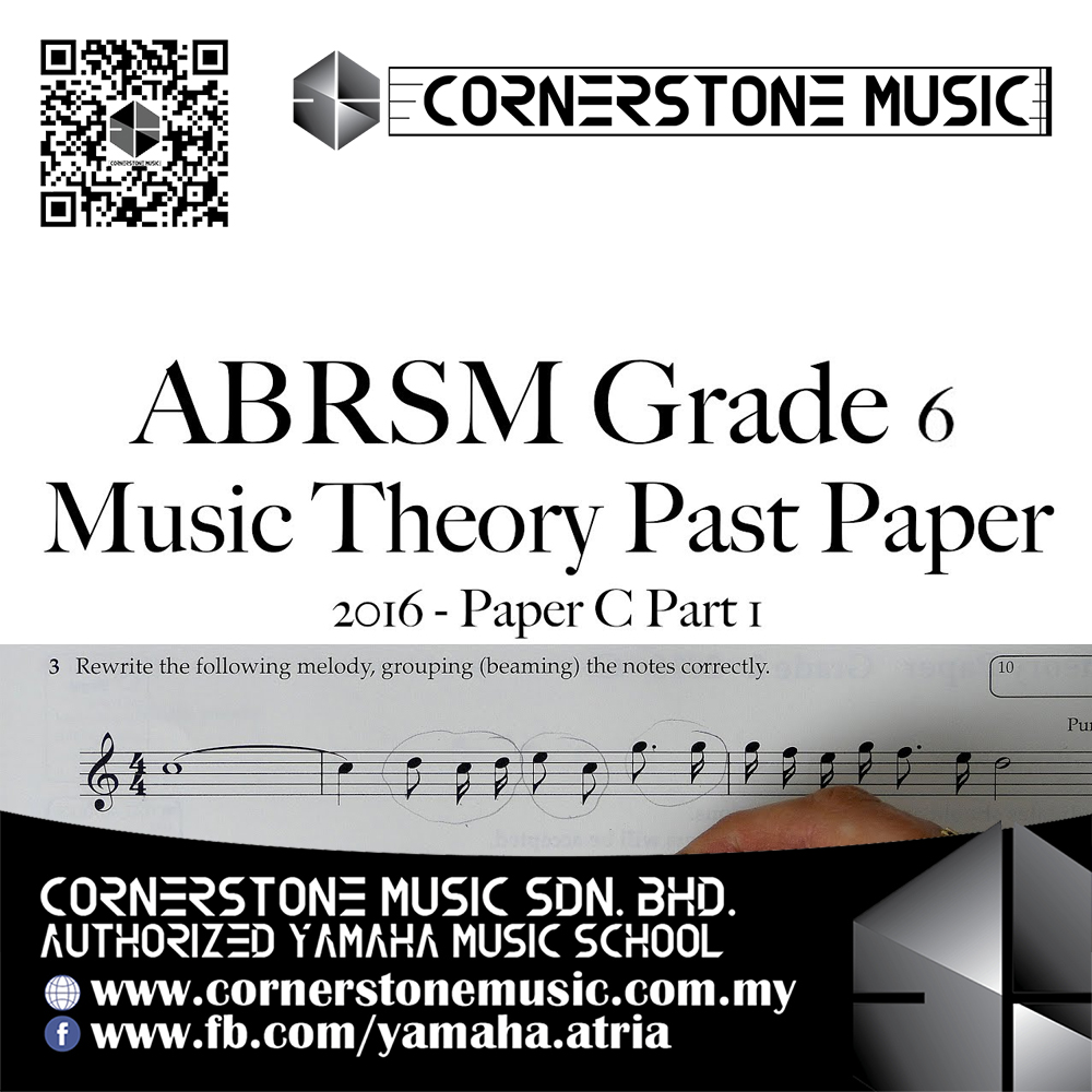 ABRSM Music Theory Papers Past Year Exam Paper 2016 Grade 6