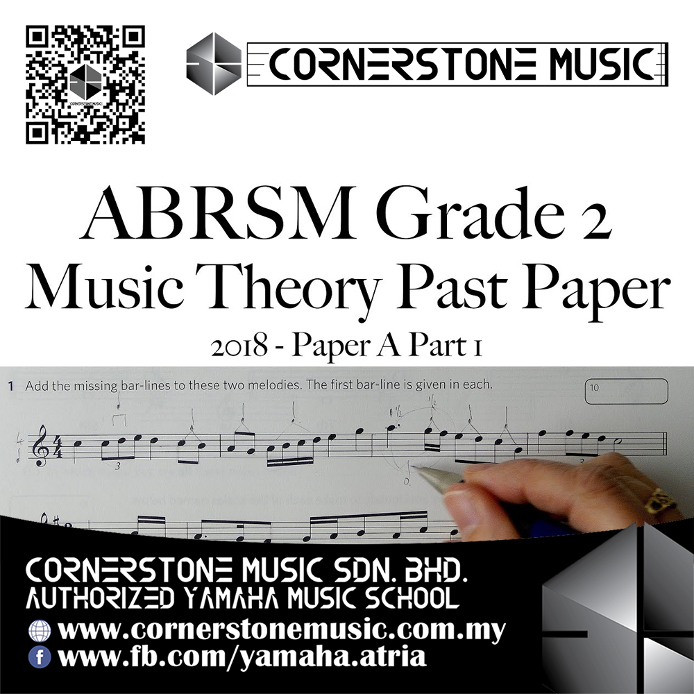 ABRSM Music Theory Papers Past Year Exam Paper 2018 Grade 2