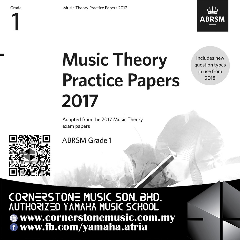ABRSM Music Theory Practice Papers Past Year Exam Test Paper 2017 Grade 1