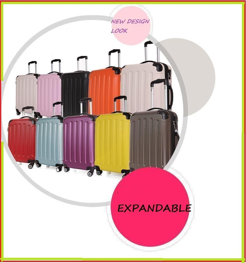 ABS+PC Spinner Expandable Suitcase Luggage Trolley Bag 20  24  ... 8dde43dfa6637