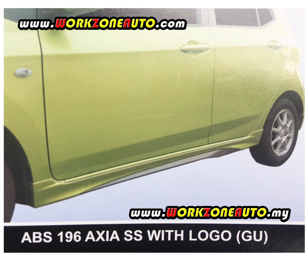 ABSF89 Perodua Axia Facelift 2017 G-Spec Gear Up ABS Bodykit Fullset With Spoi