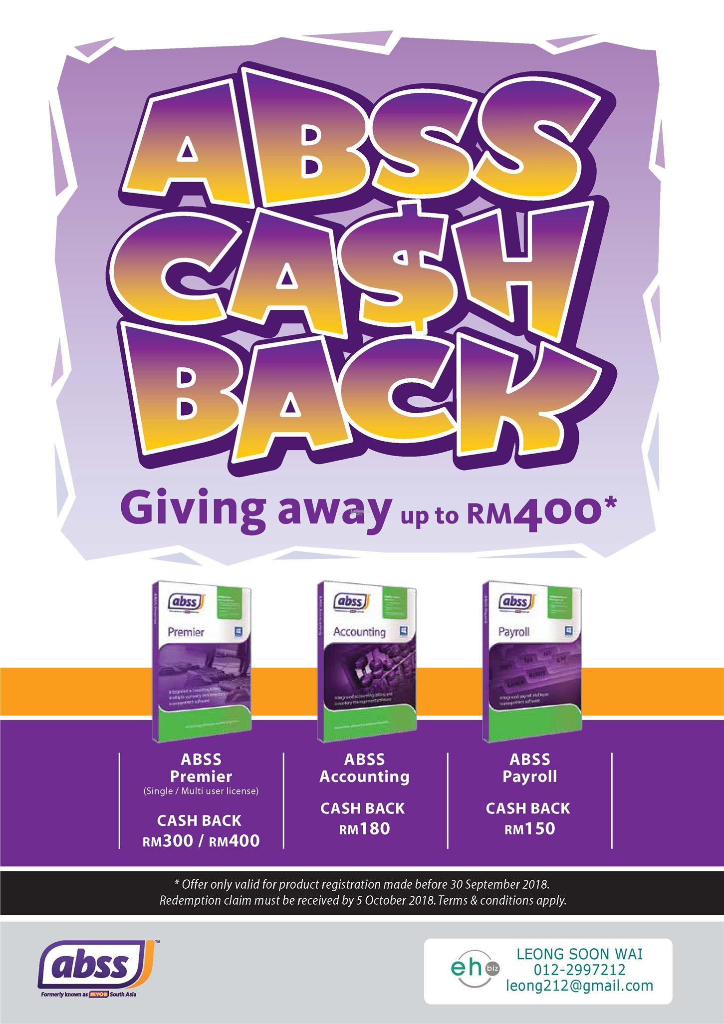 ABSS SEP'18 Cash Back Promo