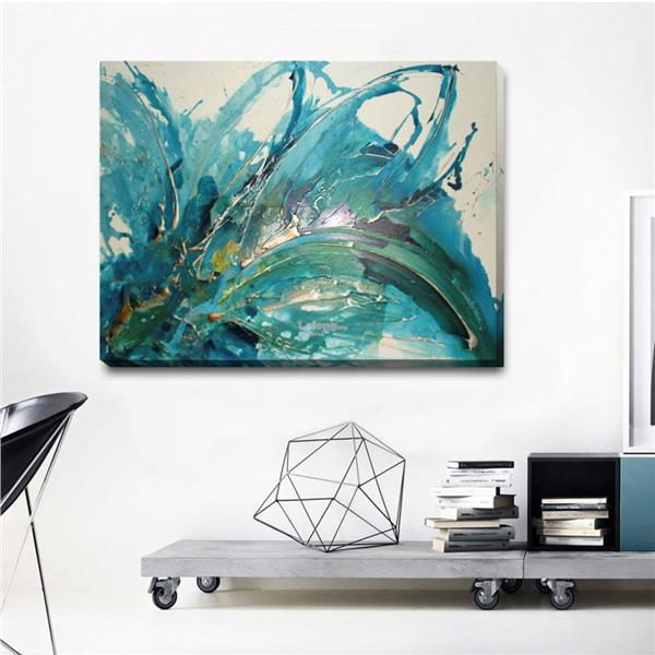 Abstract Stretched Canvas Print Framed Wall Art Home Office Decor Pain