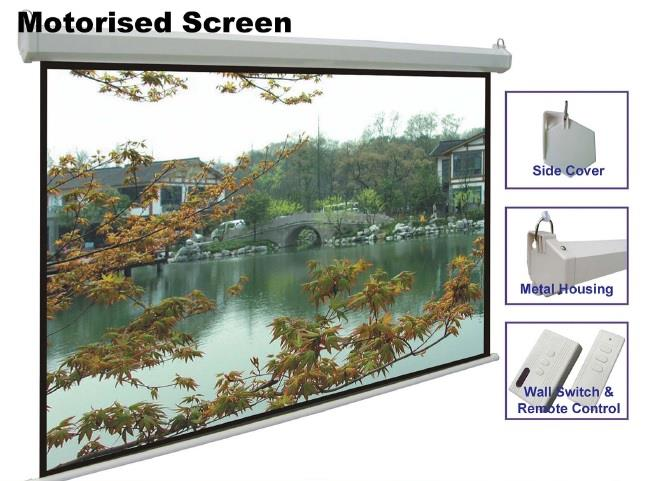 Abtus AB144x144M 144 x 144 ( 12 x 12 feet ) Projecto Motorized Screen