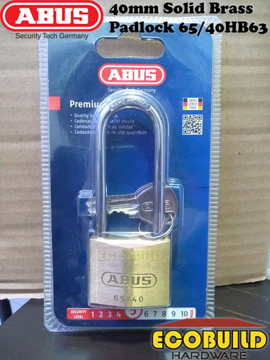ABUS 40mm Solid Brass Padlock 65/40HB63