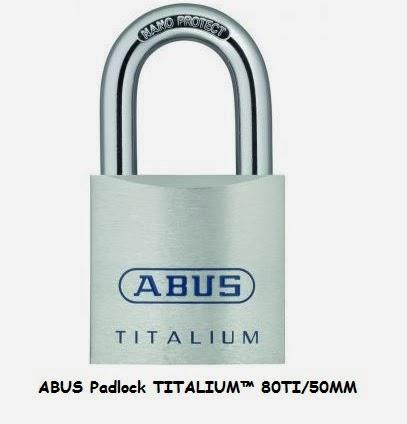ABUS Padlock TITALIUM™ 80TI/50MM for RM 129 Only!!