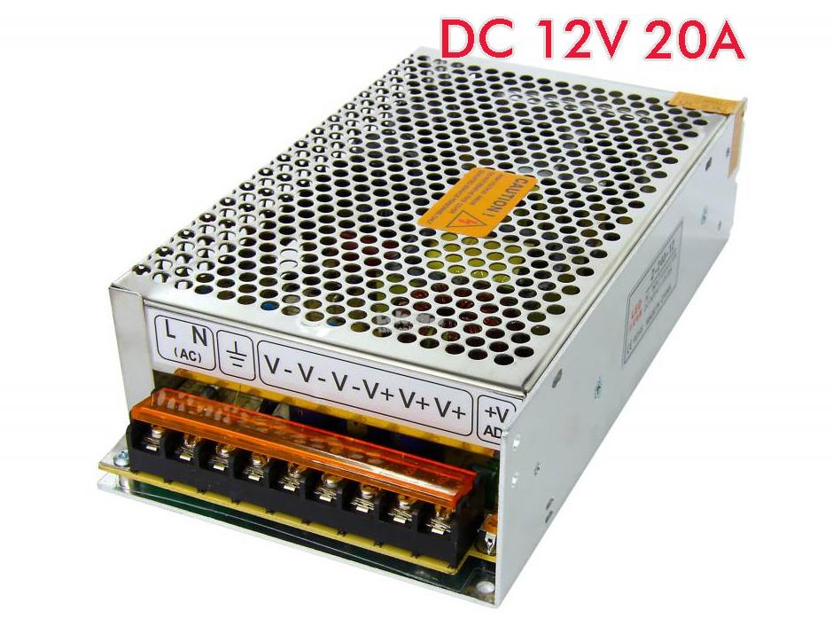 AC 100-240V to DC 12V 20A 240W Power Supply Adaptor/Adapter