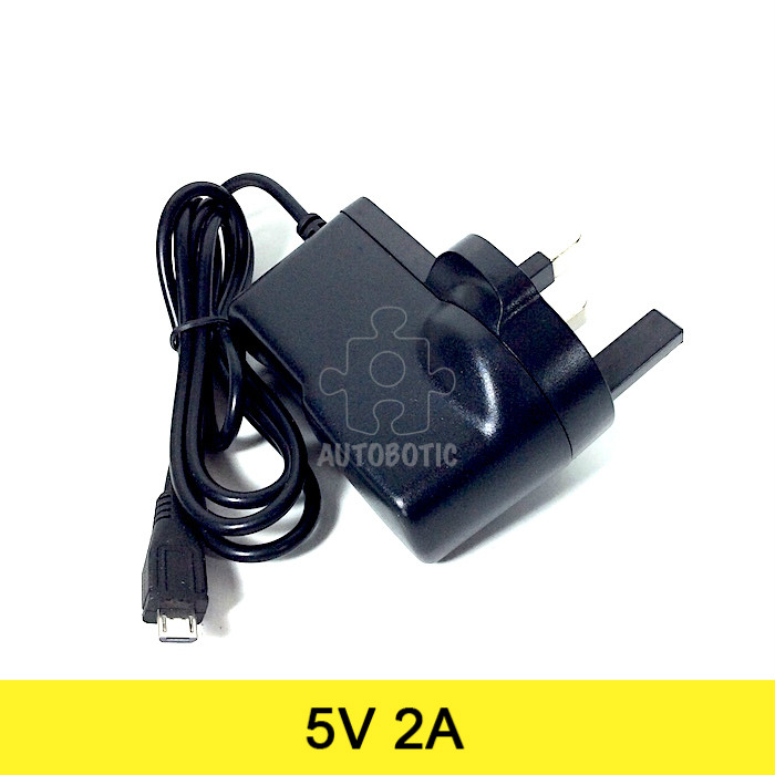 AC to DC Power Adapter 5V 2A Output Micro USB (UK Plug)