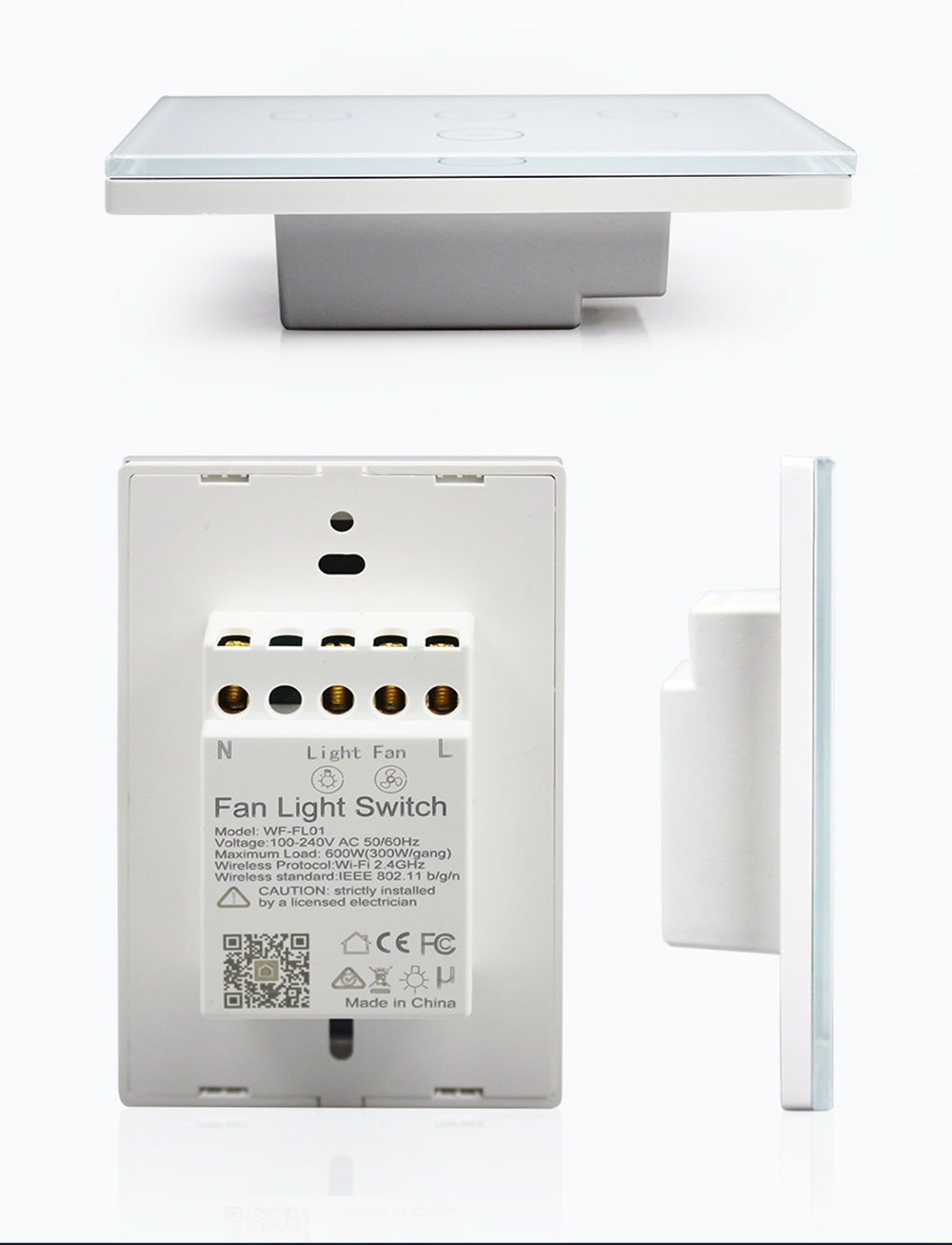 AC100-240V Smart Controller WiFi Fan Light Switch Compatible with Alex