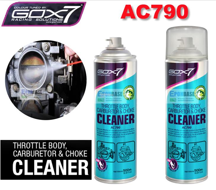 AC790 Gox7 Throttle Body, Carburetor & Choke Cleaner Gox 7 500ml Clean