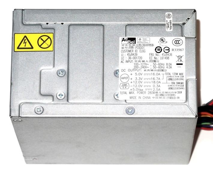 ACBEL PC6001 280W PSU _ LENOVO THINKCENTRE M57
